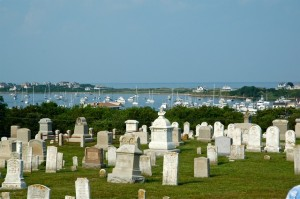 Cemetery over looking bay