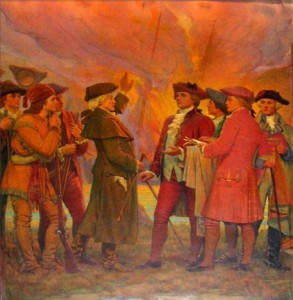 Landing of the New Englanders on the Banks of the Passaic River (Mid)