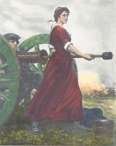 """""""Molly Pitcher"""" Hero of the Revolution, from a painting by C.Y. Turner"""