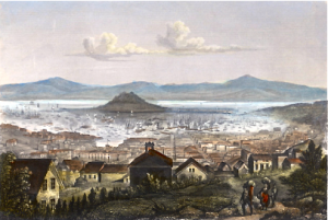 San Francisco Bay during the Gold Rush. Source: www.maritimeheritage.org
